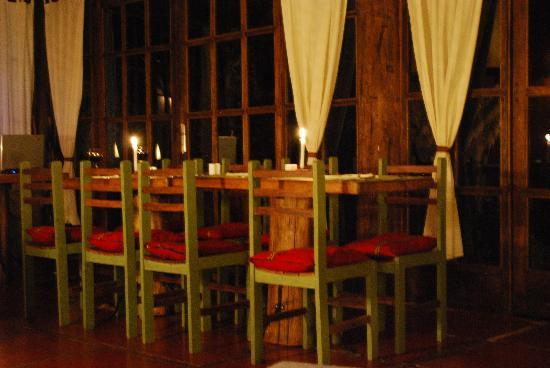The Green House Peru: Dinner table