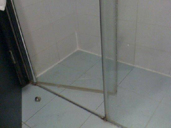 Madison Hotel Nahariya: Shower door and cubicle not  wide enough for commode chair