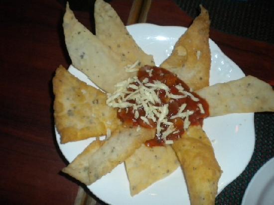 Handuraw Pizza Gorordo: Chili chips. Caution very spicy.