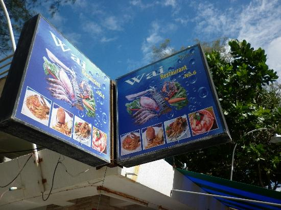 WAI thai: The sign, restaurant number 6