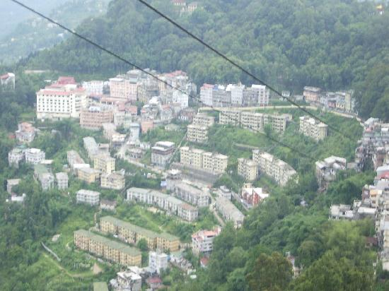 Gangtok view from the ropeway