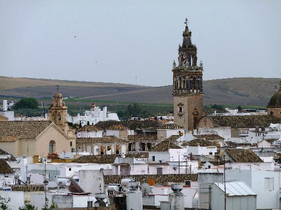 Panorama von Ecija von der Dachterrasse des Infanta Leonor