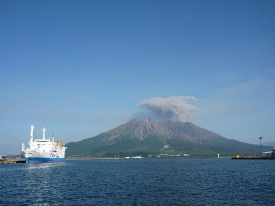 Kagoshima, Giappone: 桜島プチ爆発w