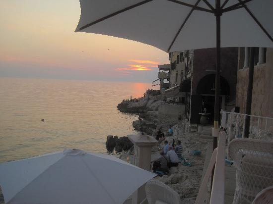 Rovinj, Croatia: Sunset at Valentino's