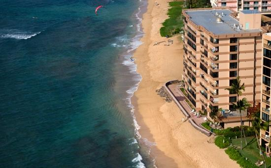Aerial view of Maui Kai on spectacular Kaanapali Beach