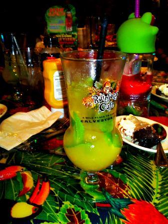 Rainforest Cafe: mango mojito w/ this glass as a souveneir!