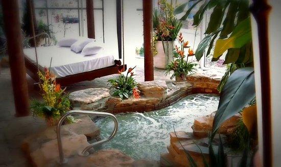 Hotel Universel Quebec: Jardin intérieur exotique, incluant un spa nordique