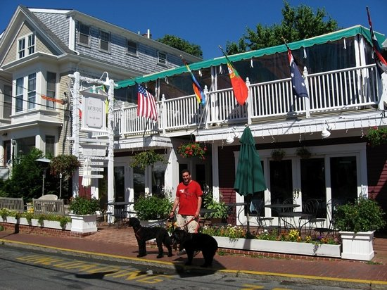 The Seafood Grille at The Waterford: Vanna, the late Queenie and Larry last summer (2010.) The Waterford is extremely pet-friendly, a