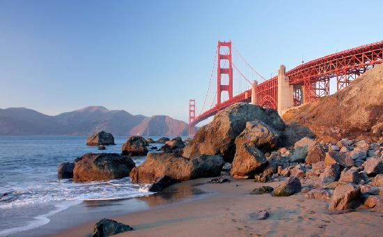 San Francisco, Californië: The Golden Gate Bridge