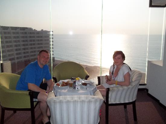 Crown Paradise Club Cancun : the view from the private lounge 8th floor