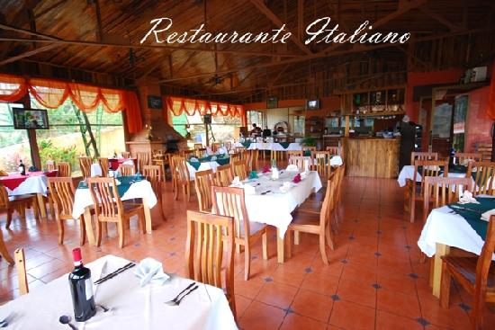 Hotel Tapanti: Restaurante especializado en comida italiana