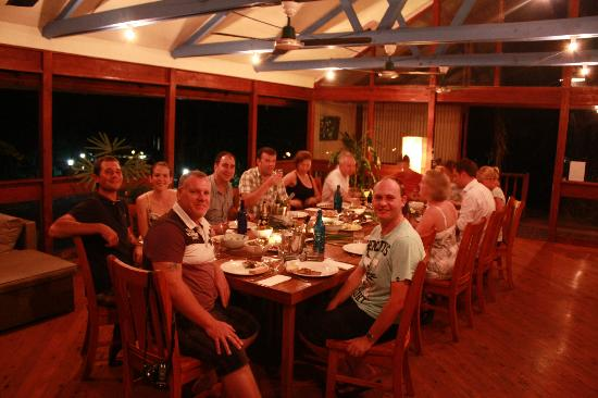 Daintree Wilderness Lodge: One of our Communal Dinners