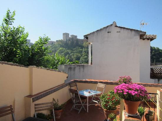 El Numero 8: View of Alhambra from roof terrace