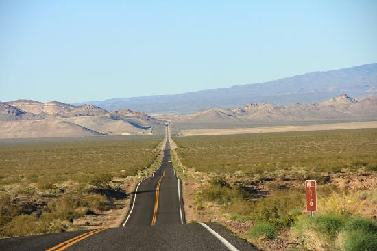 Death Valley National Park, Californië: I came in from the Nevada side - it's a long road in