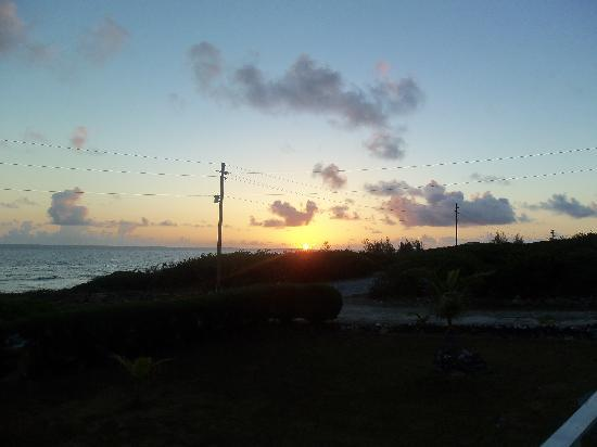 Seaglass Cottage: Sunrise from deck
