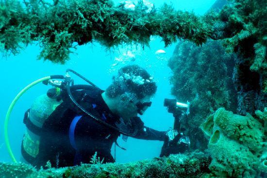 FSU Diver Taking Photos on the Spiegel Grove