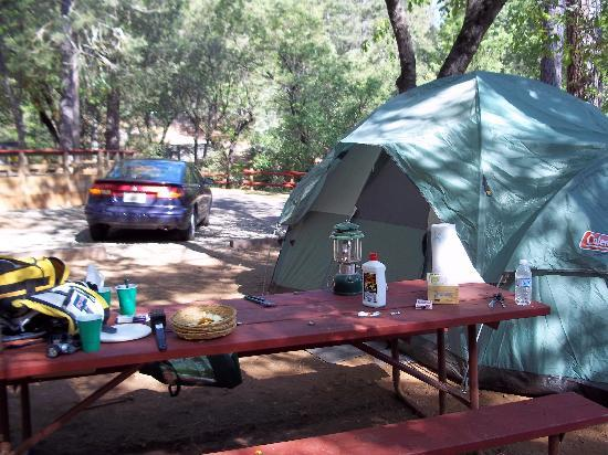 Yosemite West / Mariposa KOA: My Tent Site
