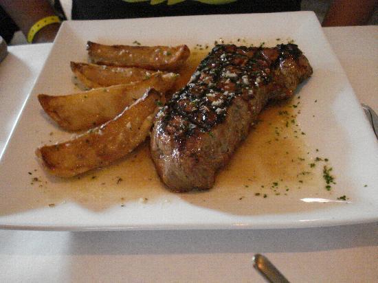 Risotto's: New York Strip w/ potatoes