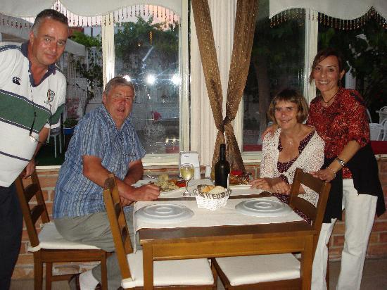 Yali Meyhanesi: Us with Michael and Dilek. May 2011