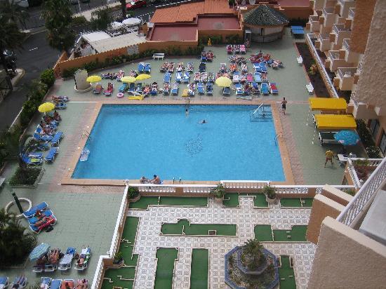 Apartamentos Caribe: vistas desde el balcon