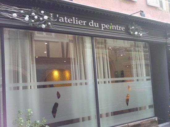 L'Atelier du Peintre: la facade du restaurant