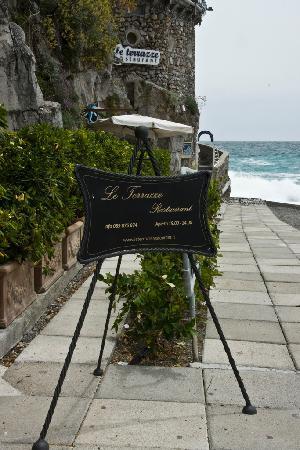Le Terrazze: The restaurant entrance