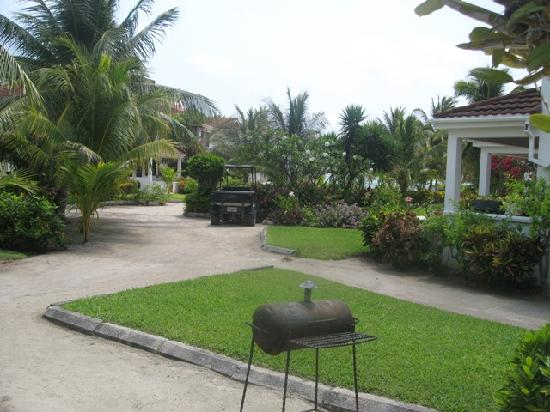 Paradise Villas: Courtyard area