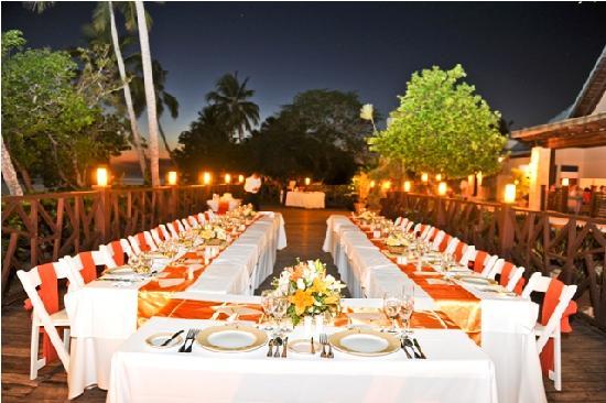 Dreams La Romana Resort Spa Wedding Reception At Sea Side Grill