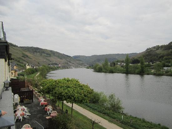 Zell (Mosel), Germany: View from Balcony looking south
