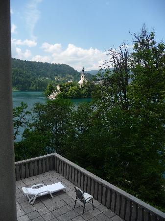Vila Bled: vista dalla stanza