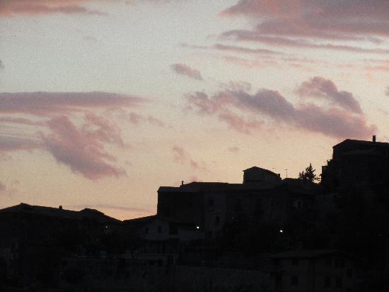 Villa Euchelia Resort: sunset over old village