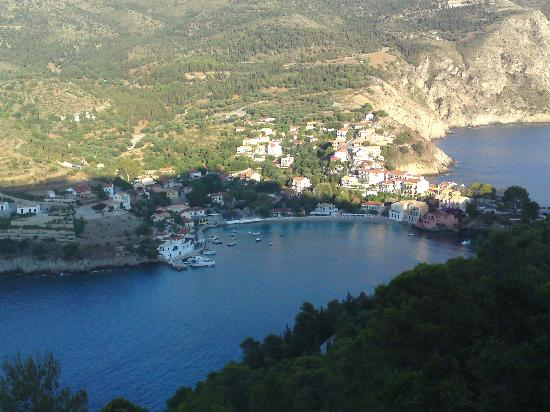 Panorama Apartments: View of Assos from the castle