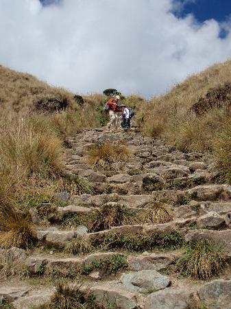 Machu Picchu, Perú: Trail down from Dead Woman's Pass