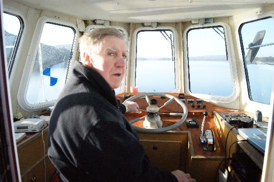 The Rose of Innisfree Tour Boat: The Captain's Deck