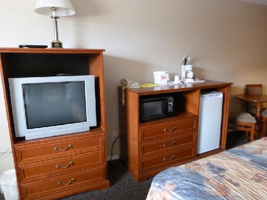 Econo Lodge Inn & Suites Drumheller: TV and microwave