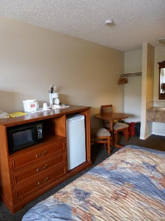 Econo Lodge Inn & Suites Drumheller: Microwave and fridge