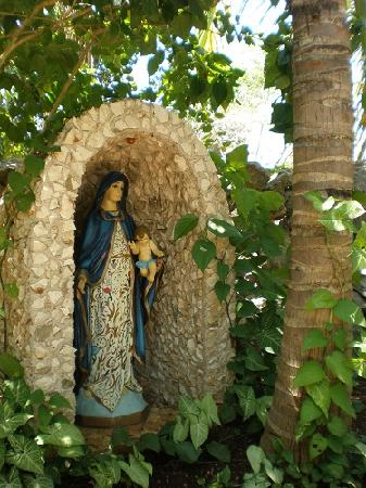 Hostel Candelaria: The virgin in the hostel, candelaria valladolid mexico