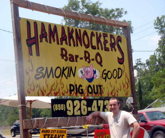 Hamaknockers BBQ: sign