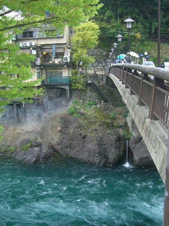 Gujo Hachiman Castle : 飛び込みが行われ橋