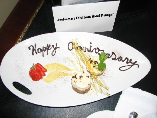 Anniversary card from hotel mgr picture of the westin dublin