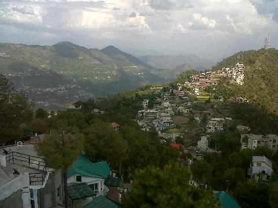 Barog, India: View from the hotel -1