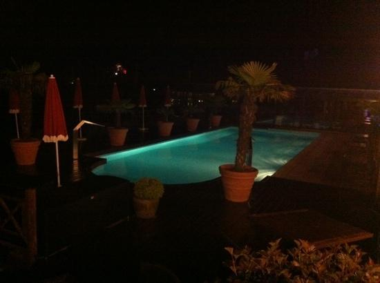 Les Tresoms, Lake and Spa Resort : baignade nocturne