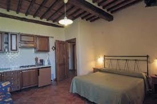 Villa Pardi Lucca: Zimmerbeispiel mit Küchenzeile