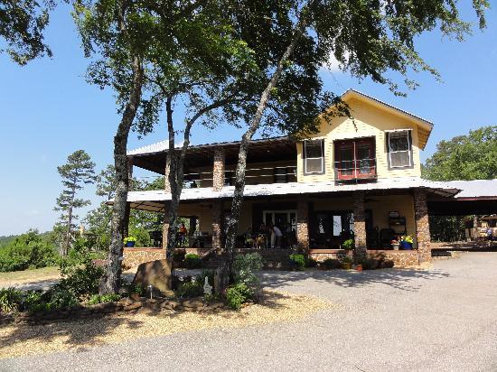 New York Texas Zipline Adventures: Main house where you sign waiver.