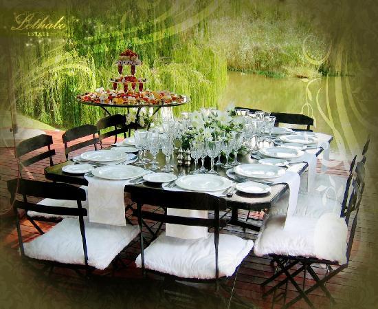Lethabo Estate: Enjoy your meals on our River Deck