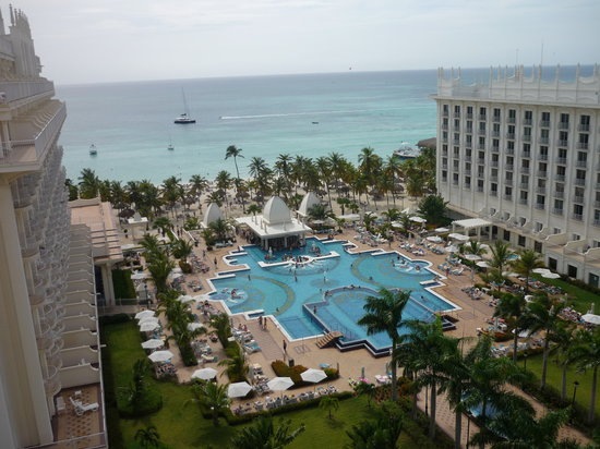 Hotel Riu Palace Aruba: View from our room.