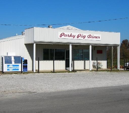 The Porky Pig Diner in Pig, Kentucky.