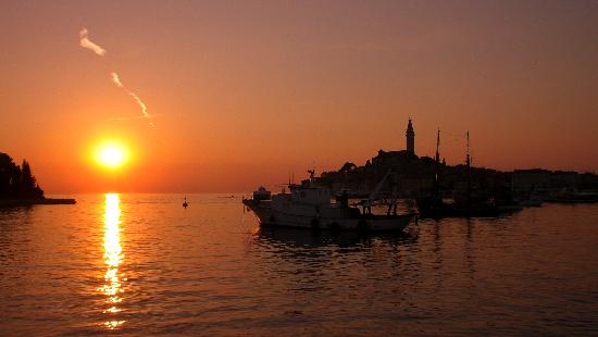Island Hotel Istra: Sunset like this every evening