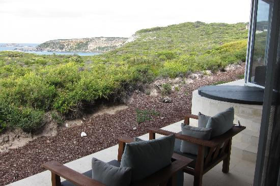 Southern Ocean Lodge: View from room's terrace