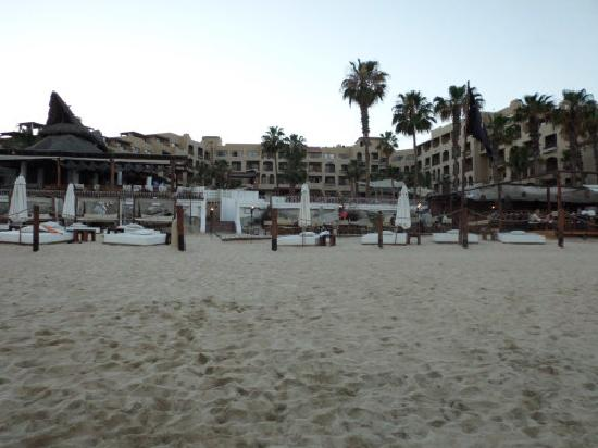 ME Cabo: view of hotel from beach